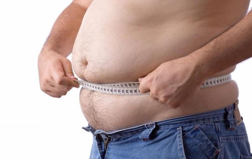 Ожирение делает мужчин слабыми
