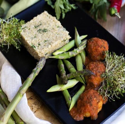 Кіноа зі спаржею і вегетеллями