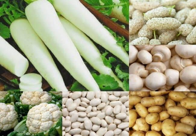 білі овочі