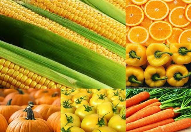 жовті фрукти і овочі