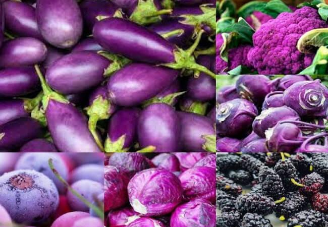 фіолетові фрукти і овочі