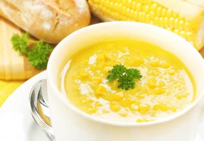 кукурудзяно - гороховий суп