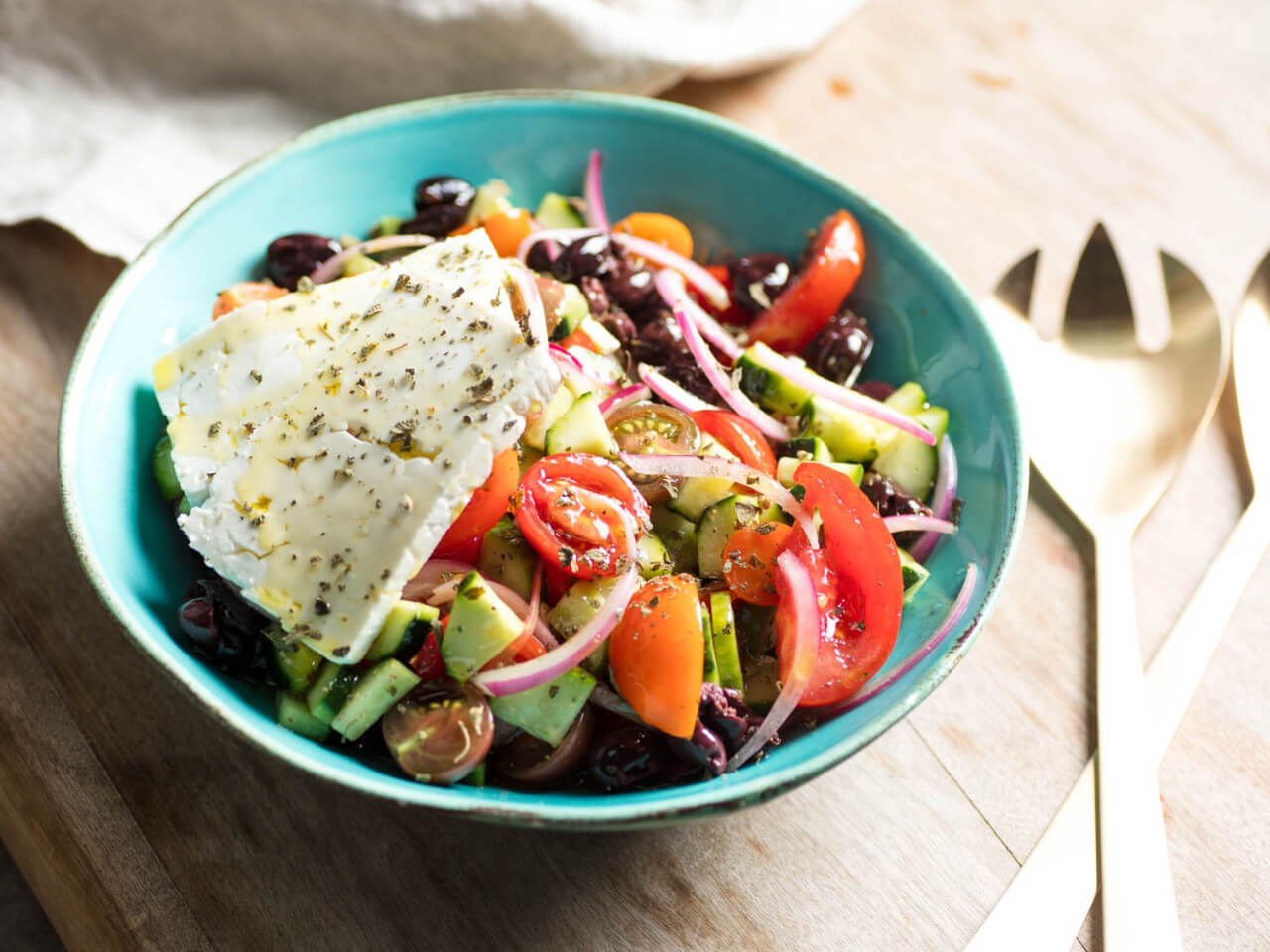 A real Greek salad for the New Year