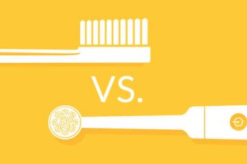 Звичайна зубна щітка та електрична