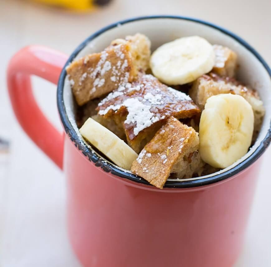 веганський сніданок в кухлі