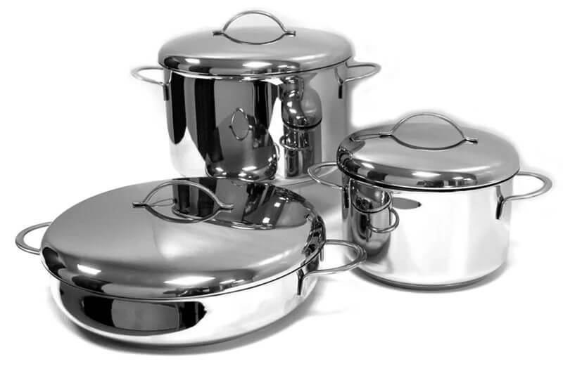 Посуд з нержавійки