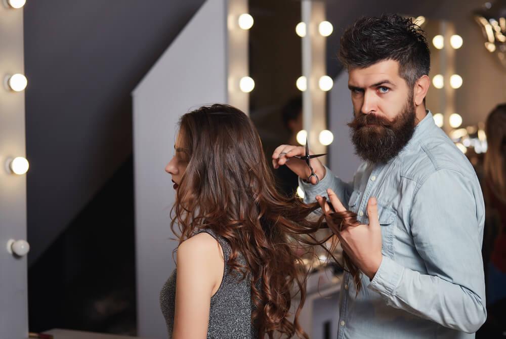 В перукаря