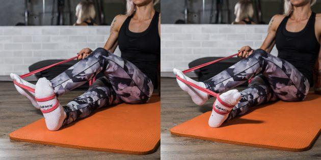 Вправи при плоскостопості: Розворот стопи з опором