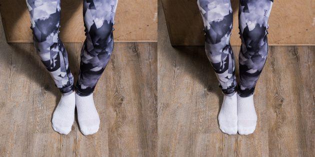 Вправи при плоскостопості: Тиск стопами один на одного