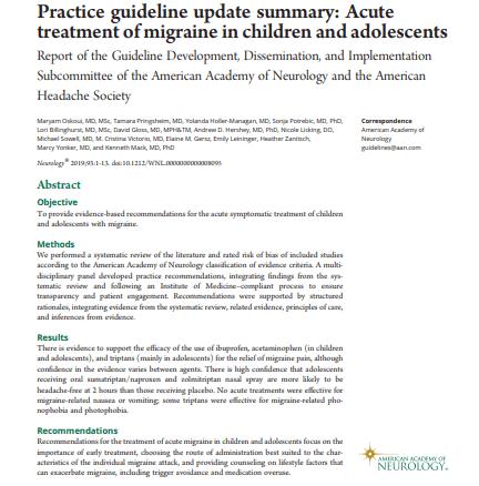 Рекомендації по лікуванню мігрені