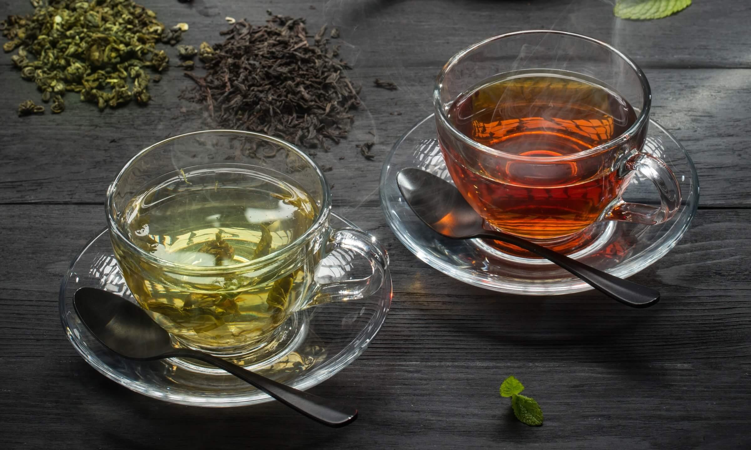 Чорний і зелений чай