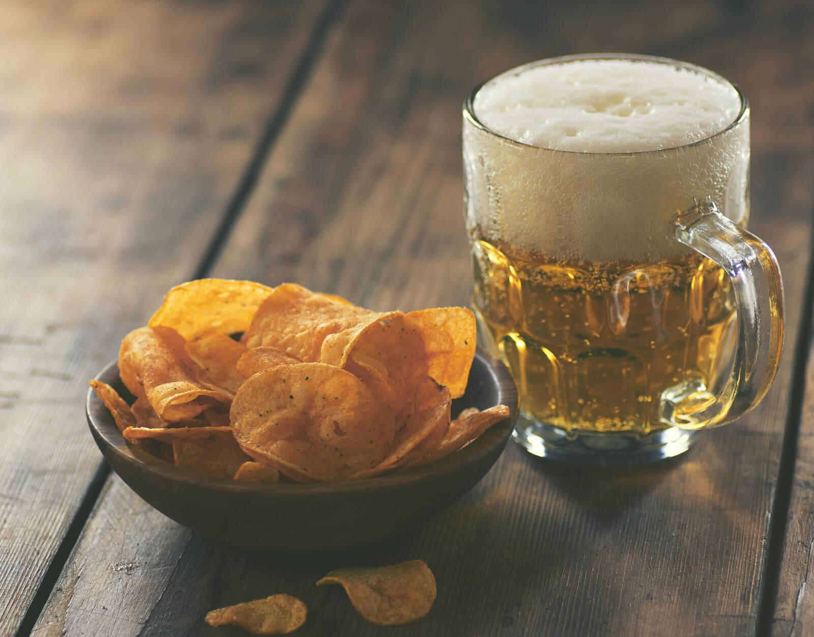 Чіпси з пивом