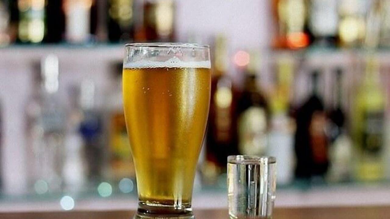 Горілка з пивом