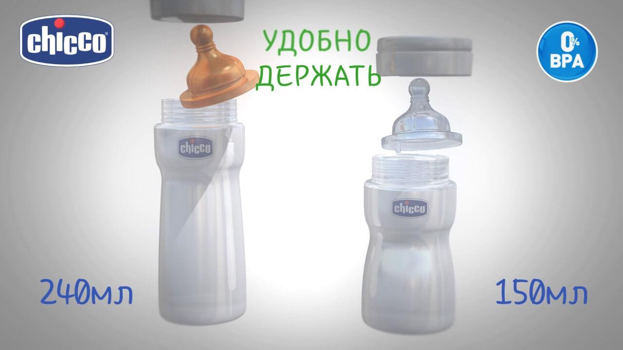 Бутылочки для кормления Well-Being от Chicco
